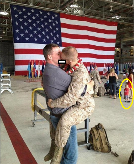 Homosexual Marine Kisses 'Gay' Male Lover at Family Homecoming ...: americansfortruth.com/2012/03/05/homosexual-marine-kisses-gay-male...