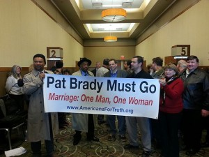 AFTAH defends natural marriage at IL-GOP Central Commitee meeting.