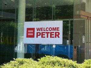 "HRC sign welcomes AFTAH's Peter LaBarbera. A few hours later, they were denoucing pro-family advocates as the ""fringe."""