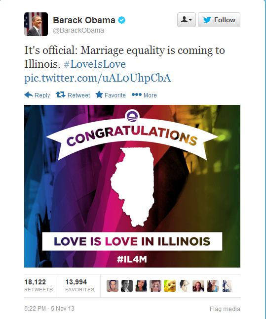 Twitter-Obama-IL-Gay-Marriage-11-5-13-Organizing-For-Action