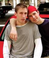 "Old life: Photo of Michael Glatze as a young ""gay"" activist with his boyfriend."