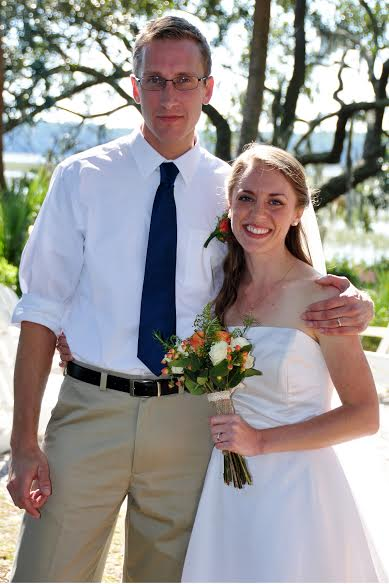 Michael and Rebekah Glatze at their recent wedding.