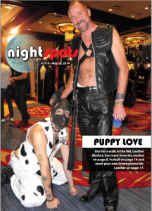 "Animal role-playing is among the perversions celebrated at International Mr. Leather and the ""kink"" movement that enjoys acceptance under the LGBT umbrella. This is the cover of a Chicago ""gay"" publication. Click to enlarge."