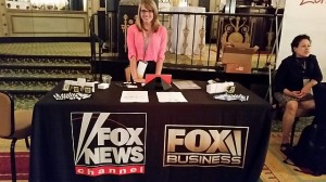 Fox News recruiting table at  homosexual journalists (NLGJA) convention, held last year in Chicago. Click to enlarge.