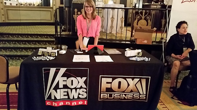 Fox News recruiting table at  homosexual journalists (NLGJA) convention.