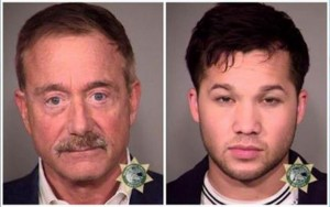 "Alleged sex predators, 66-year-old Terry Bean (left) and his ex-""boyfriend,"" Kiah Lawson, in their mug shots following their Nov. 19 arrest by the Portland Police Bureau's Sex Crimes Unit."