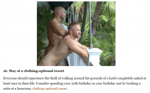 Above is Queery's recommendation to stay at a nude resort. Click to enlarge.