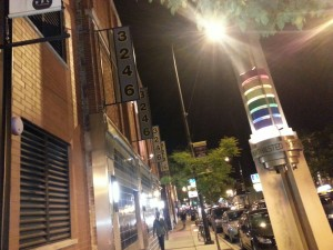"""Homosexual bathhouse """"Steamworks"""" sits prominently in Chicago's """"gay"""" """"Boystown"""" neighborhood."""