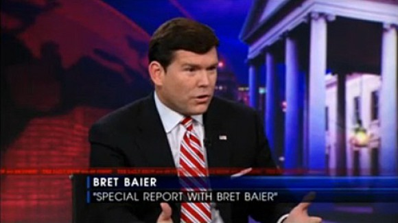 "Fox News' pro-homosexual bias continues: Some are speculating that the ""conservative"" network pushed Baier to pull out of his speaking engagement at the Catholic Legatus event."