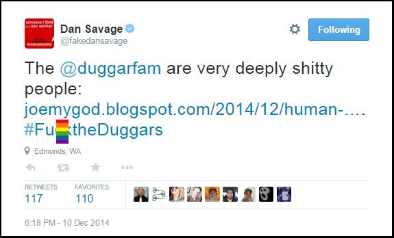 Dan_Savage_Anti-Duggars-Hate-Tweet-F-WORD_BLOCKED_Arkansas-Profam-Victory-12-10-14