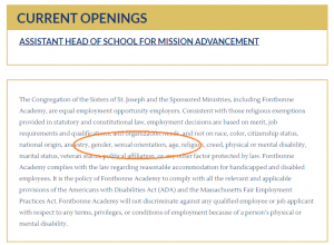 Fontbonne_Academy_Nondiscrimination_Policy_Sexual_Orientation