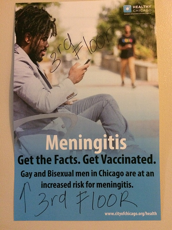 No Law Can Make Sodomy Safe or Good: Poster warns attendees of the increased risk for meningitis