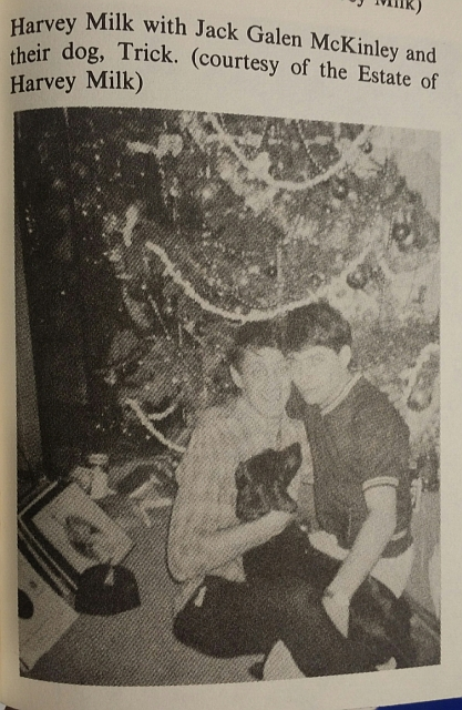 """Man-Boy Love? This photo of Harvey Milk and his teenage homosexual lover, Jack Galen McKinley, appears in Randy Shiltz book, """"The Mayor of Castro Street."""" Note the caption:"""