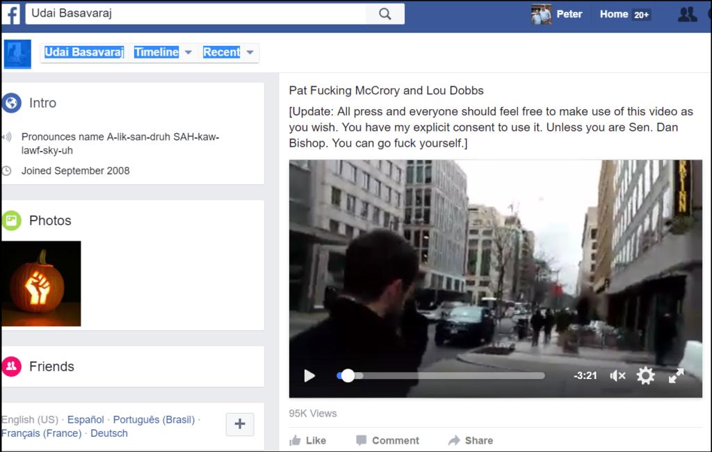 Udai_Basavaraj_Facebook_Pat-F-ing_McCrory_1-23-17